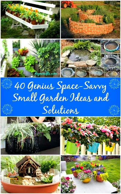 small garden ideas, small-space garden ideas