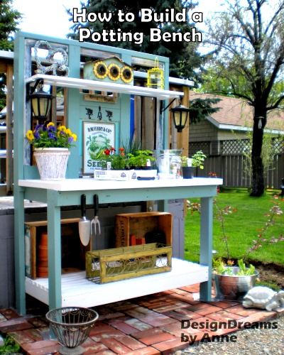 How to Build a Garden Potting Bench