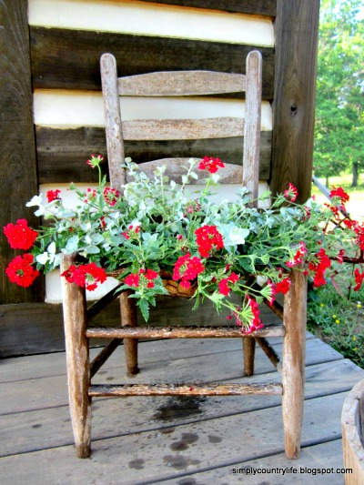 How to Convert a Wooden Chair into a Planter
