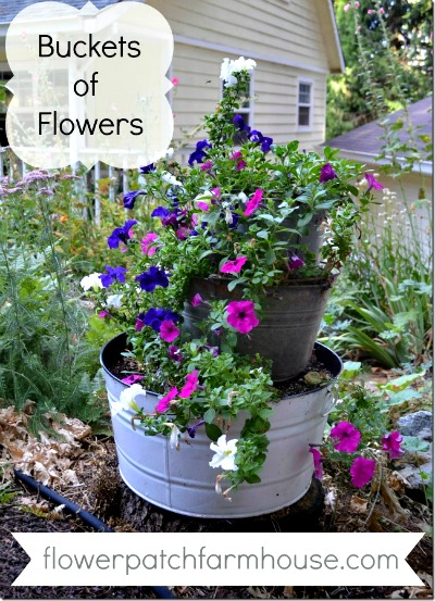 How to Make Stacked Buckets of Flowers for Your Garden Small