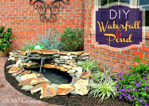 How to make a diy backyard pond landscape water feature for Making a small garden