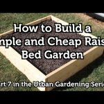 How to Build a Wood Raised Bed Garden for Beginners  – Video